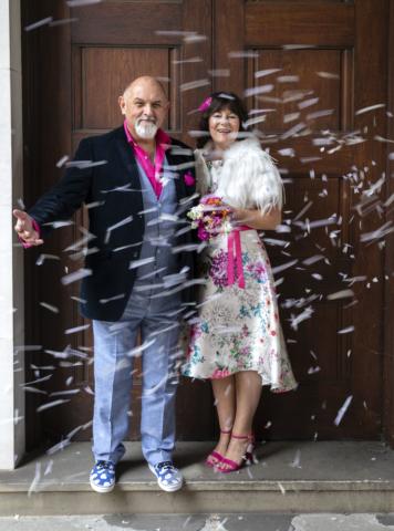 Wedding, confetti